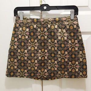 F21 Brocade Mini Skirt Size S